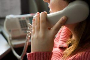 รับโทรศัพท์