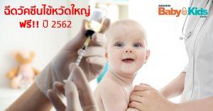 ฉีดวัคซีนไข้หวัดใหญ่ฟรี 2562